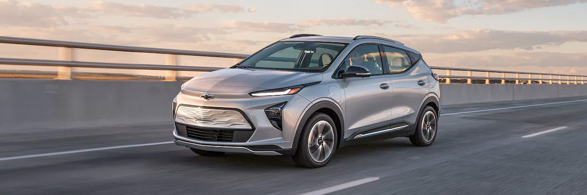 2022 Chevy Bolt EUV driving on the road