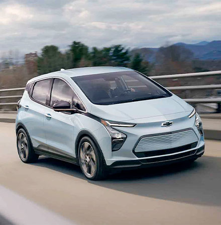 Bolt EV Exterior Photo: Front Angle View Driving