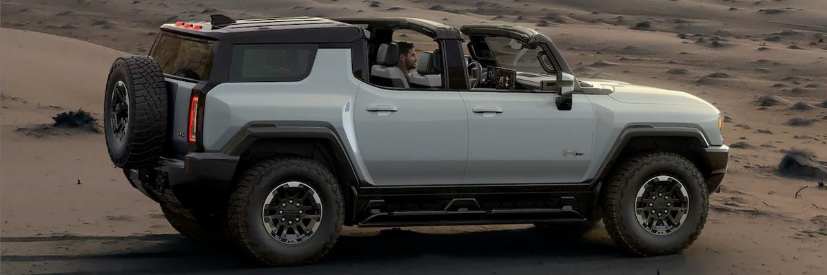 2022 HUMMER EV parking is desert
