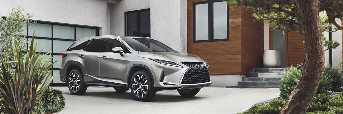 2022 Lexus RX in front of a home