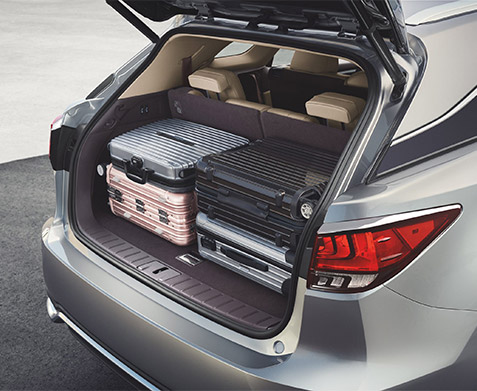 Loaded trunk space of 2022 Lexus RX
