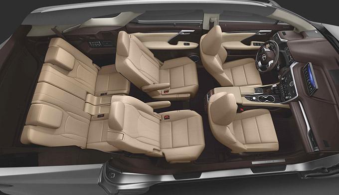 2022 Lexus RX three rows of seats