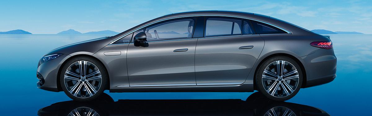 2022 Mercedes-Benz EQS rear side view