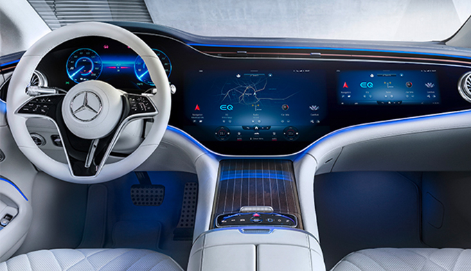 The all-new 2022 EQS from Mercedes-EQ interior