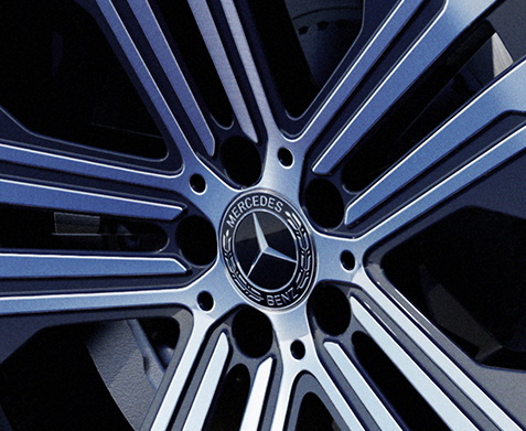 2022 Mercedes-Benz EQS rim -  Images for illustration purposes. Final specifications and appearance may vary. European model shown