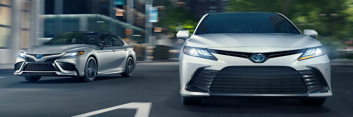 2022 Toyota Camry driving on the road