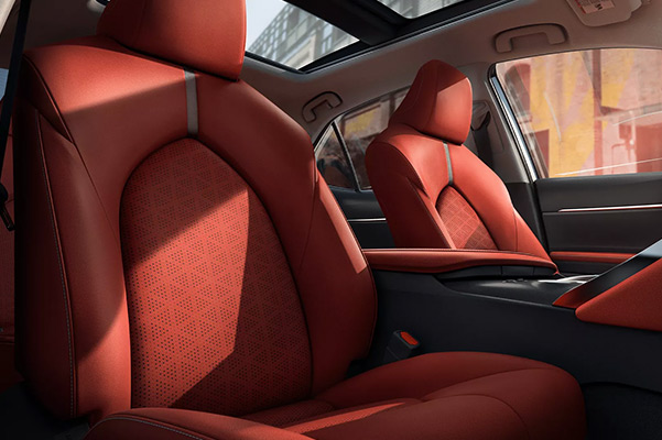 2022 Toyota Camry red leather font seats