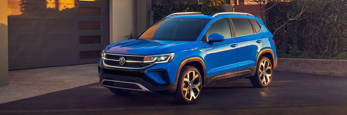 2022 Volkswagen Taos sitting in driveway
