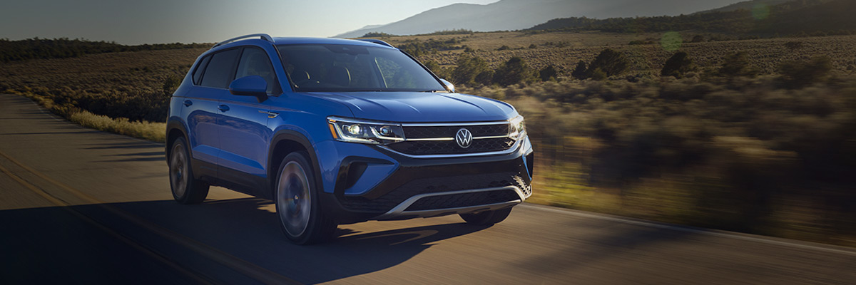2022 VW Taos driving down open road