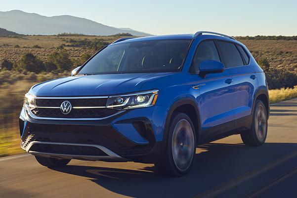 2022 Volkswagen Taos driving on road