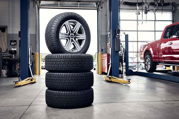 Ford tires in mechanic